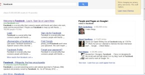 Google+ Social Search Results