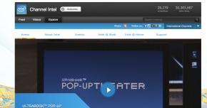 Intel's YouTube channel