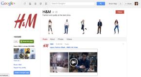 H&M Google+ Homepage