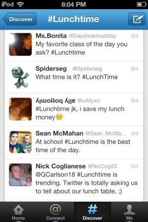 McDonald's #Lunchtime Promoted trend Twitter
