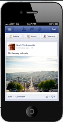New Facebook Mobile App iOS iphone Larger Photos Pinterest Bryan Nagy