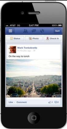 New Facebook Mobile App iOS iphone Larger Photos Pinterest Bryan Nagy