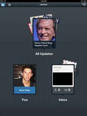 Bryan Nagy LinkedIn App Entry