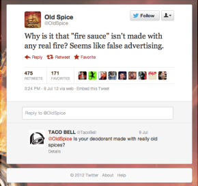 Taco Bell Old Spice Twitter Response Social Media Marketing Bryan Nagy