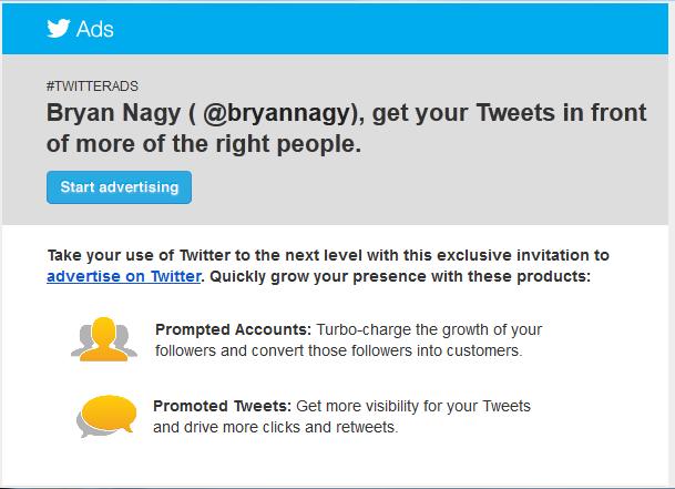 Twitter Invites Users to Begin Advertising | Bryan Nagy