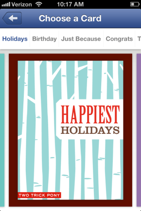 Facebook Gifts Holiday Cards Social Media Bryan Nagy