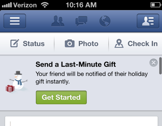 Facebook Gifts Holidays Social Media Bryan Nagy