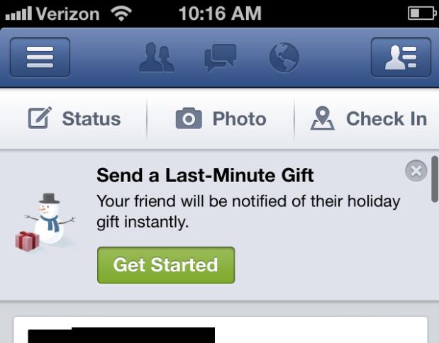 Facebook Gifts Holidays Social Media Bryan Nagy