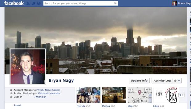 Facebook old timeline Bryan Nagy