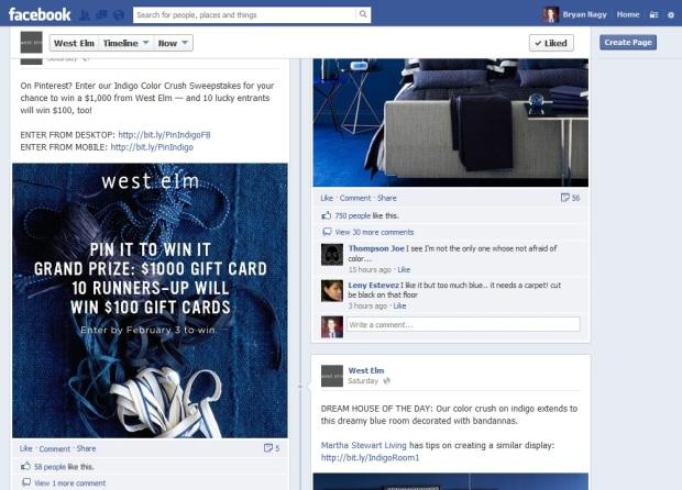 west elm pinterest contest Bryan Nagy Facebook Post 2
