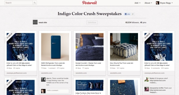 west elm pinterest contest Bryan Nagy Pinterest Board 2