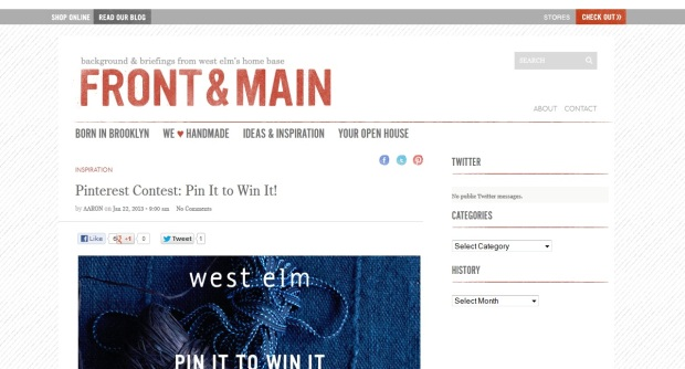 west elm pinterest contest Bryan Nagy website