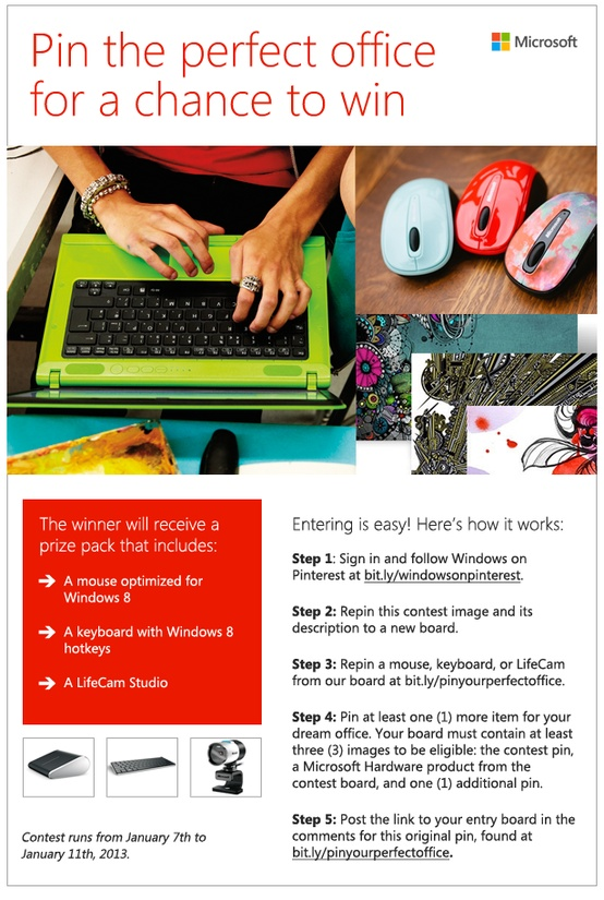 The Perfect Office Windows Pinterest Contest