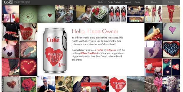 Visitors of Coca-Cola's website were notified of the contest.