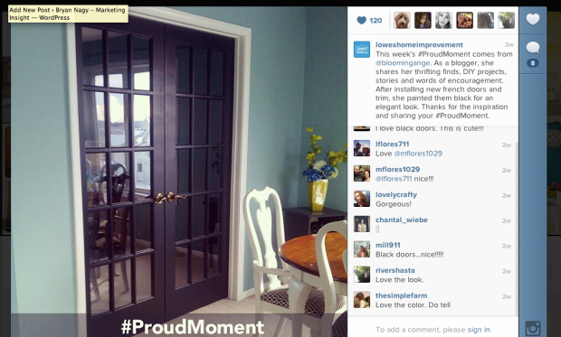 The winner of the week on Instagram #ProudMoment.