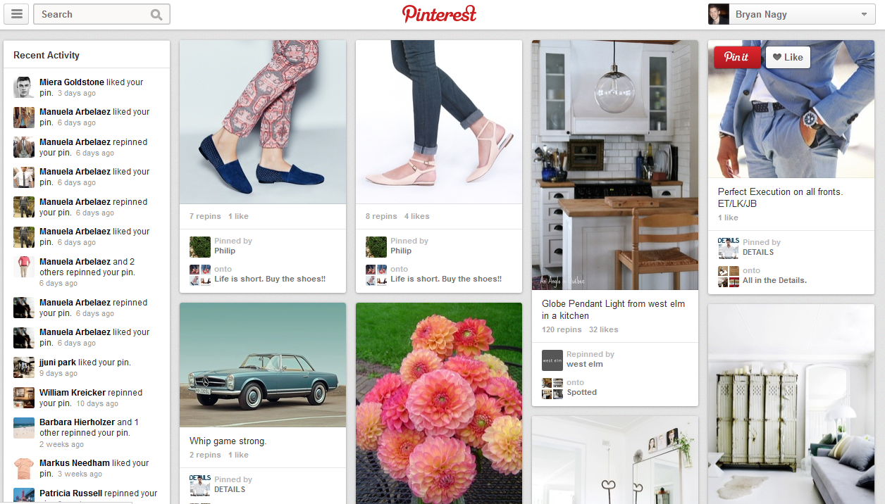 Pinterest Tests Site Redesign to Increase Engagement | Bryan Nagy ...