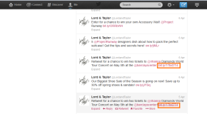 Lord and Taylor Twitter Contest