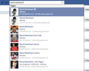 Who is the right David Beckham? Facebook Verified Accounts will help users easily see the answer.