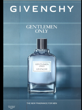 A sloppy example of just how little publishers spend on their tablet editions. In this example, you'll see the Givenchy advertisement is simply a scan of their print copy.