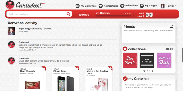 Target Cartwheel homepage Bryan Nagy