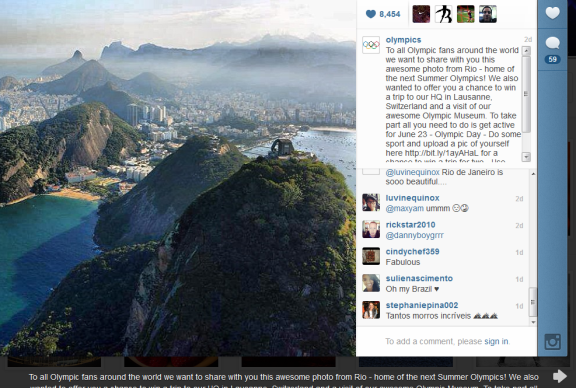 Olympics Marketing Campaign  Instagram Bryan Nagy