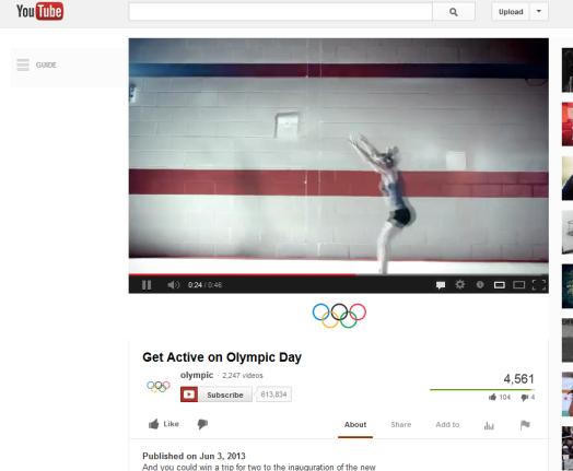 Olympics YouTube Bryan Nagy