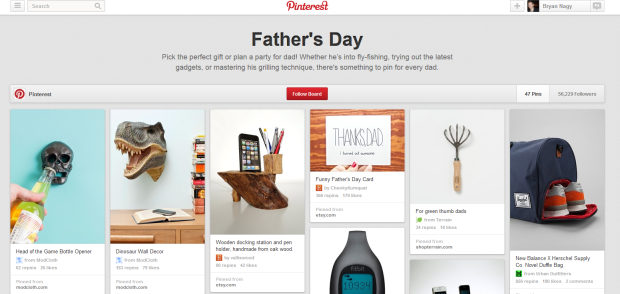 The Pinterest Father's Day board - Bryan Nagy