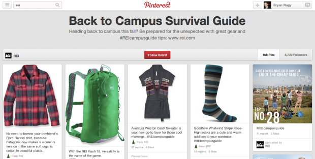 Bryan Nagy REI Pinterest Back to School
