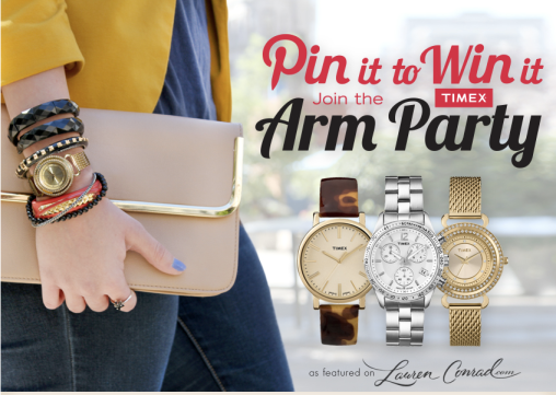 Timex has joined the movement towards Pin to Win contests on Pinterest