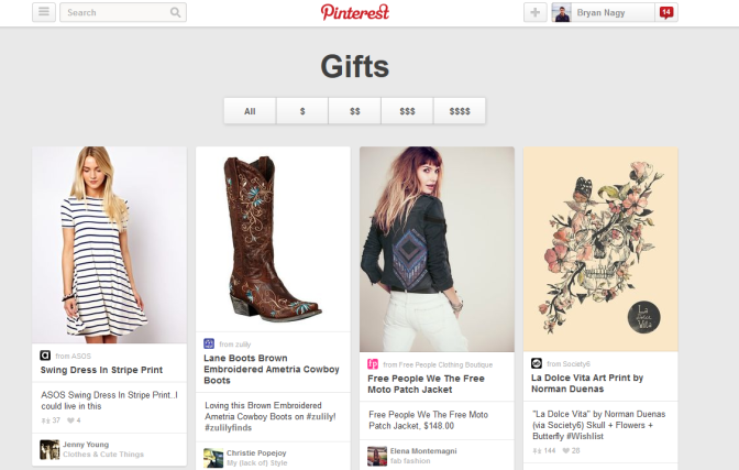 Pinterest Released Gifts Feed for Businesses
